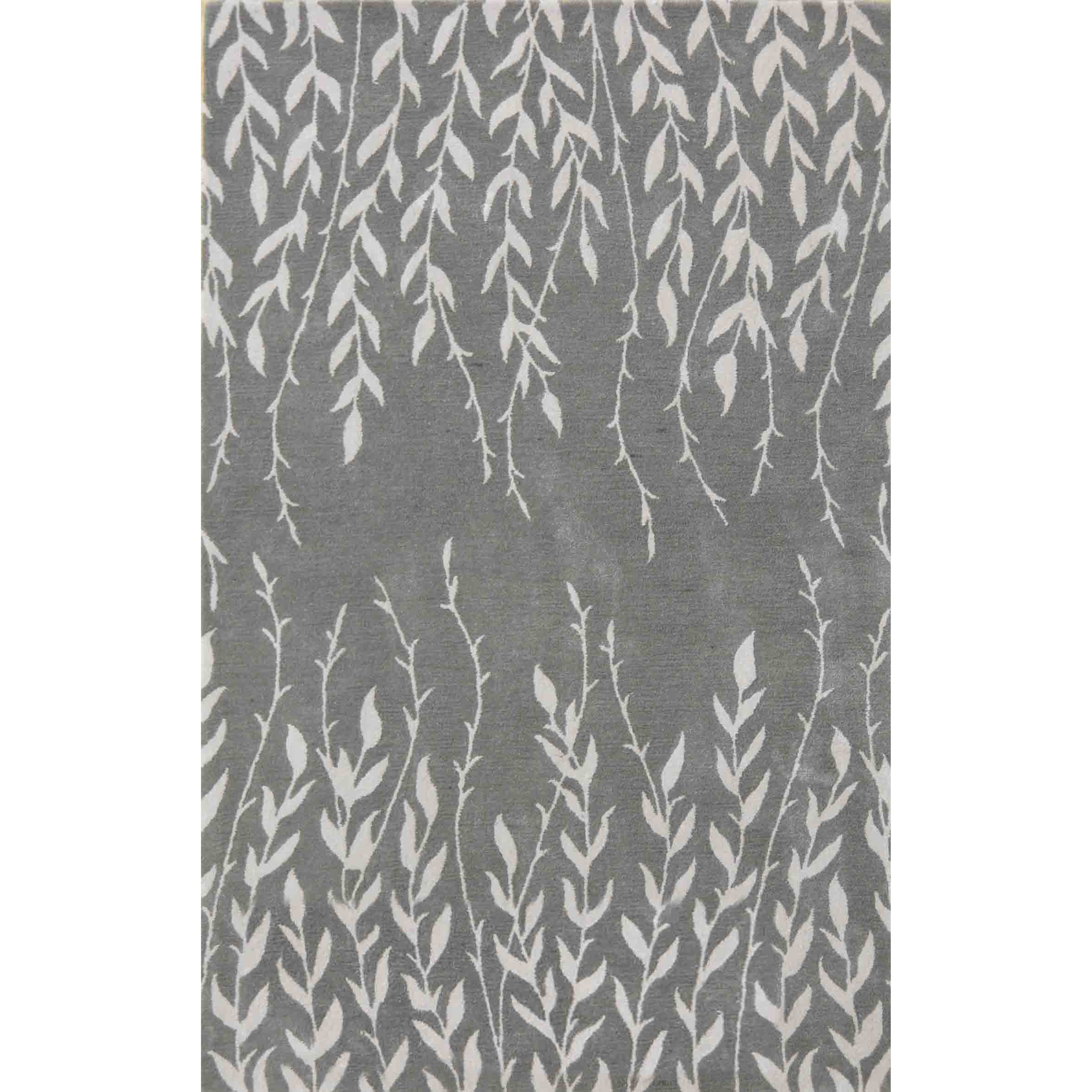 "Bob Mackie Home 2'6"" X 8' Silver Tranquility Area Rug by Kas at Zak's Home"