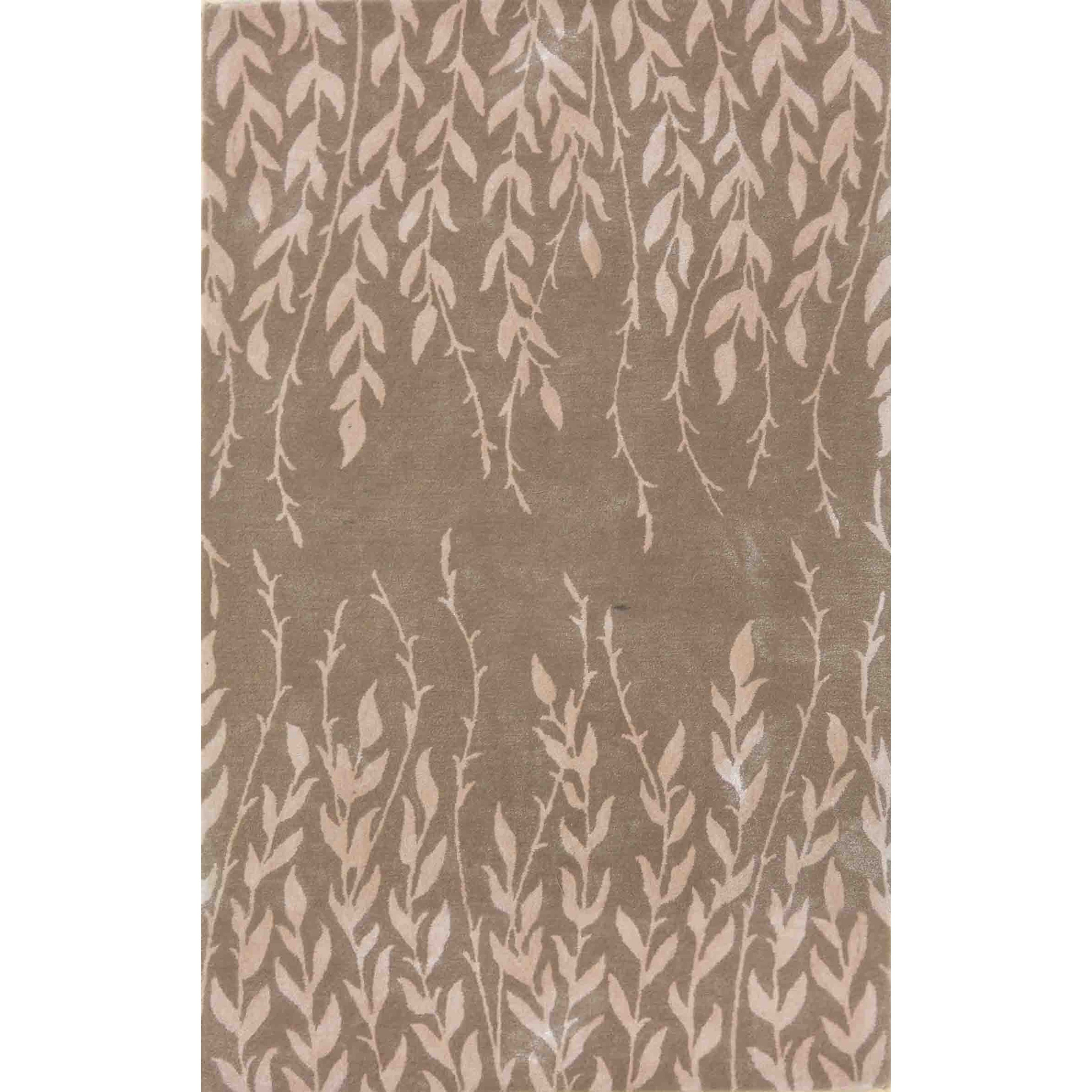 "2'6"" X 8' Beige Tranquility Area Rug"