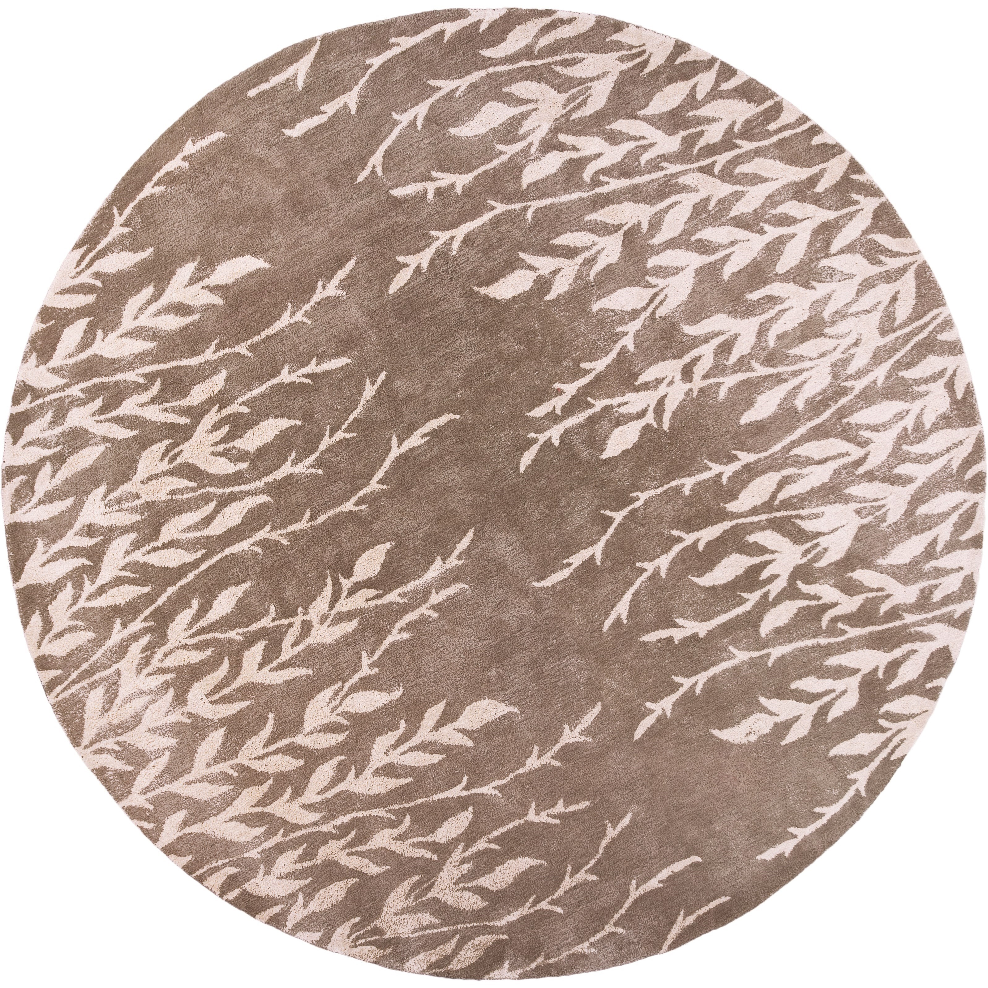 """Bob Mackie Home 7'6"""" X 7'6"""" Beige Tranquility Area Rug by Kas at Zak's Home"""