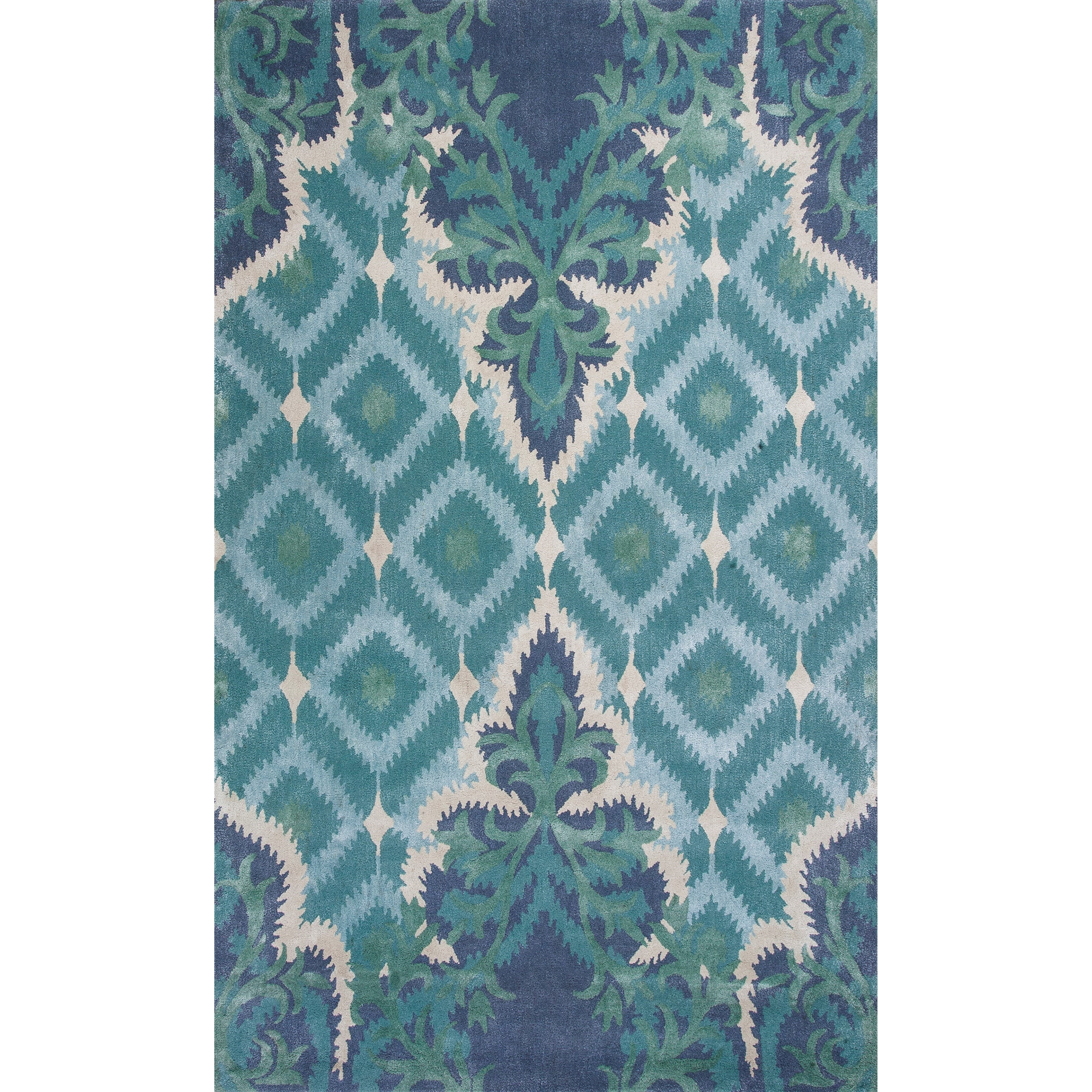 "2'6"" X 8' Blue/Green Opulence Area Rug"