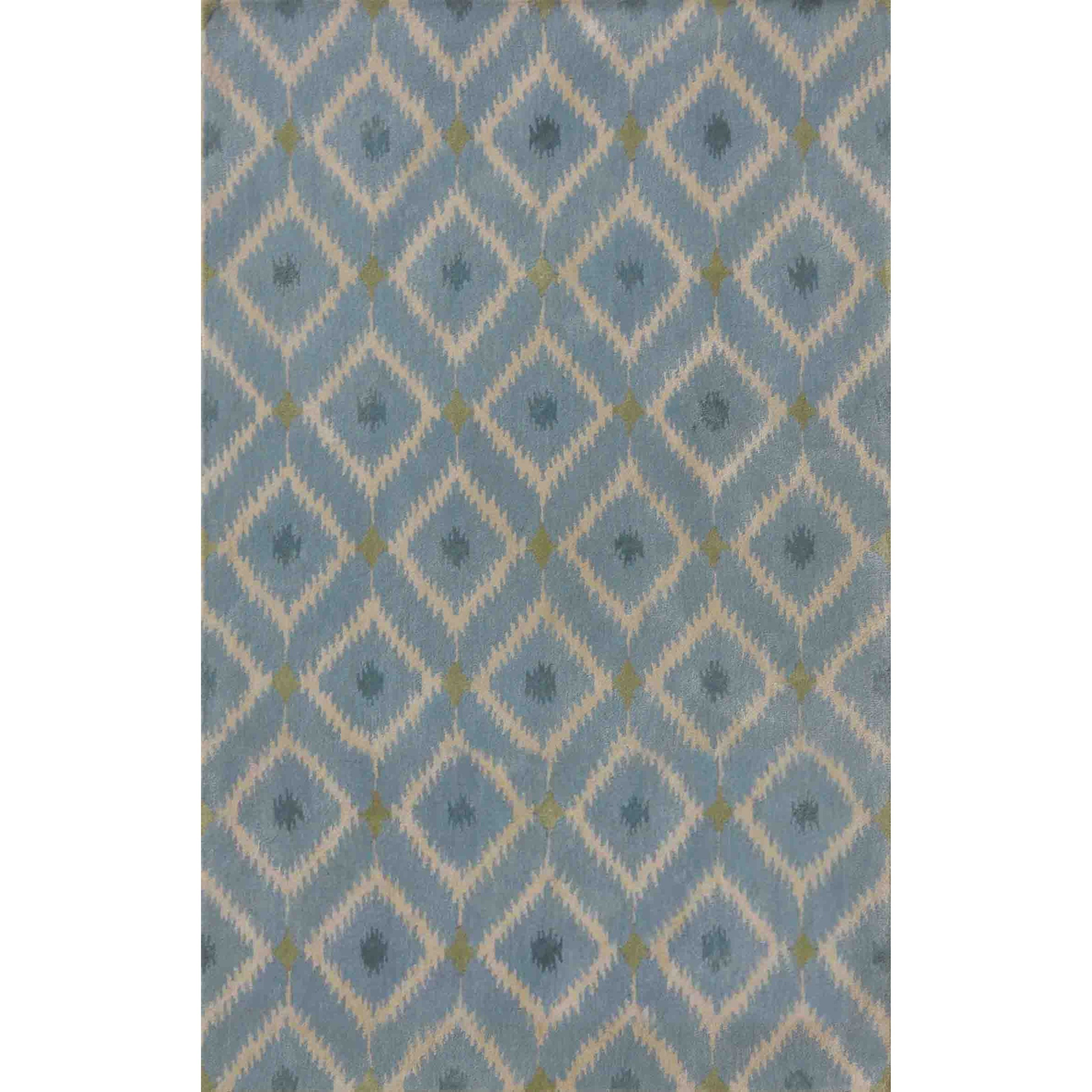"""Bob Mackie Home 2'6"""" X 8' Ice Blue Mirage Area Rug by Kas at Zak's Home"""