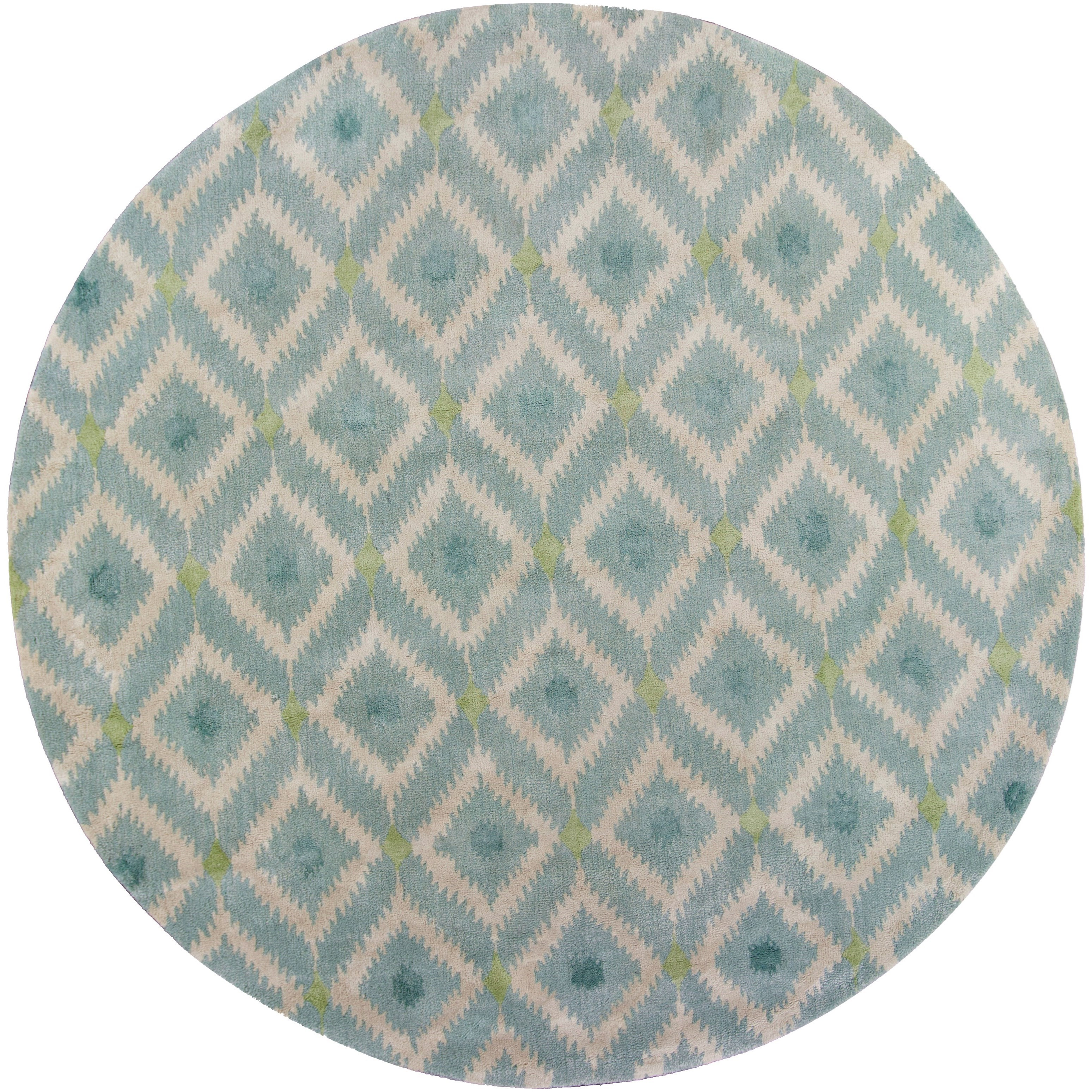 "7'6"" X 7'6"" Ice Blue Mirage Area Rug"