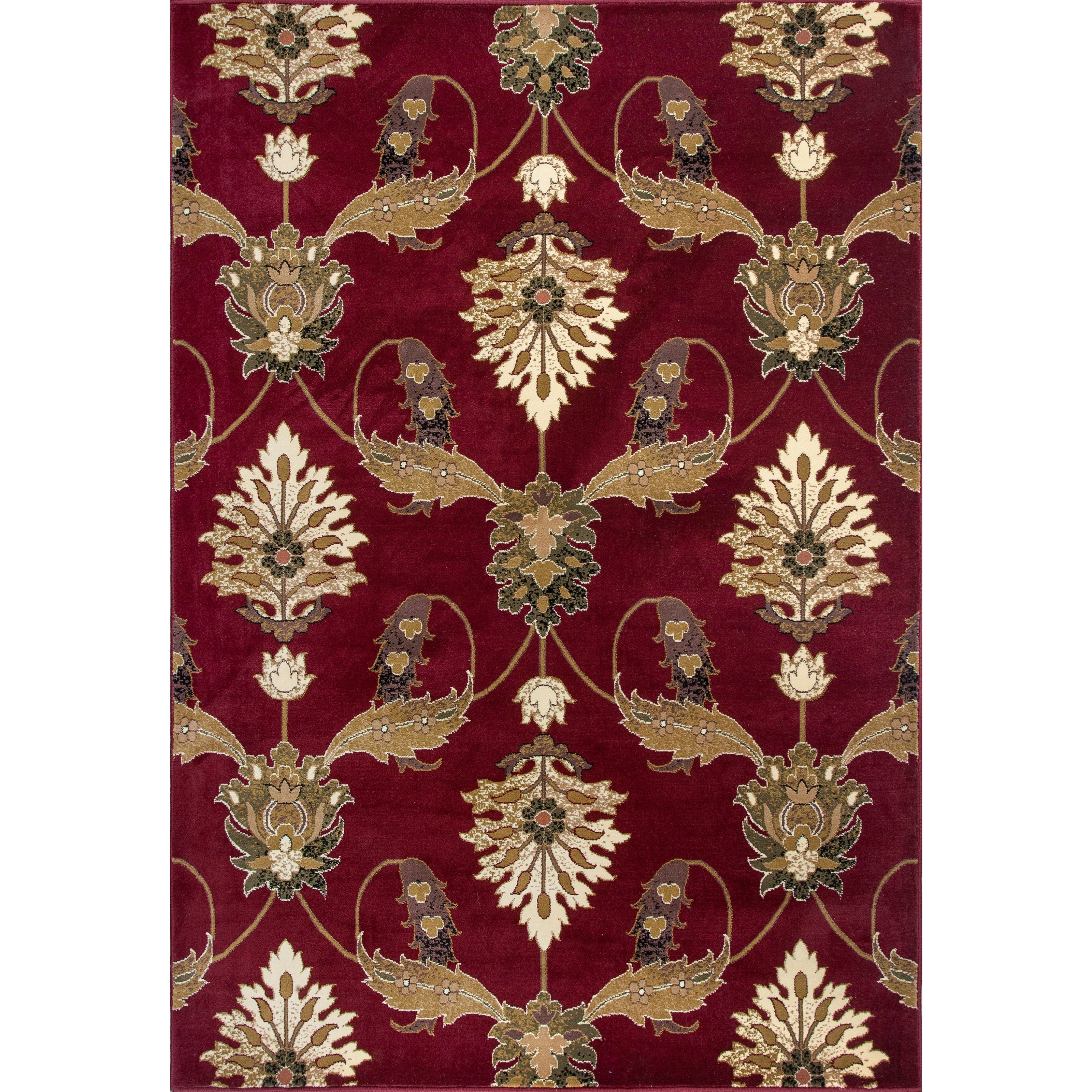 """Cambridge 5'3"""" X 7'7"""" Red Palazzo Area Rug by Kas at Zak's Home"""
