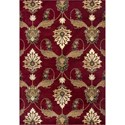 "Kas Cambridge 5'3"" X 7'7"" Red Palazzo Area Rug - Item Number: CAM736453X77"