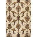 "Kas Cambridge 5'3"" X 7'7"" Ivory Palazzo Area Rug - Item Number: CAM736553X77"