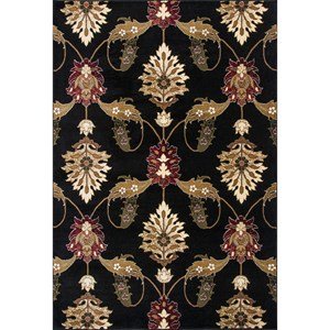 "Kas Cambridge 1'8"" X 2'7"" Black Palazzo Area Rug"