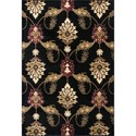 "Kas Cambridge 5'3"" X 7'7"" Black Palazzo Area Rug - Item Number: CAM736653X77"