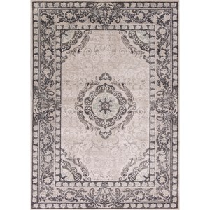 "Kas Chandler 5'3"" X 7'7"" Grey Treasures Area Rug"