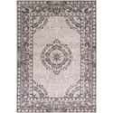 "Kas Chandler 5'3"" X 7'7"" Grey Treasures Area Rug - Item Number: CHD490153X77"