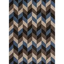 "Kas Chelsea 2'3"" X 3'9"" Slate/Grey Chevron Area Rug - Item Number: CHE238327X45"