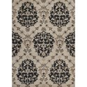 Kas Chelsea 5' X 7' Ivory Medallia Area Rug - Item Number: CHE23935X7