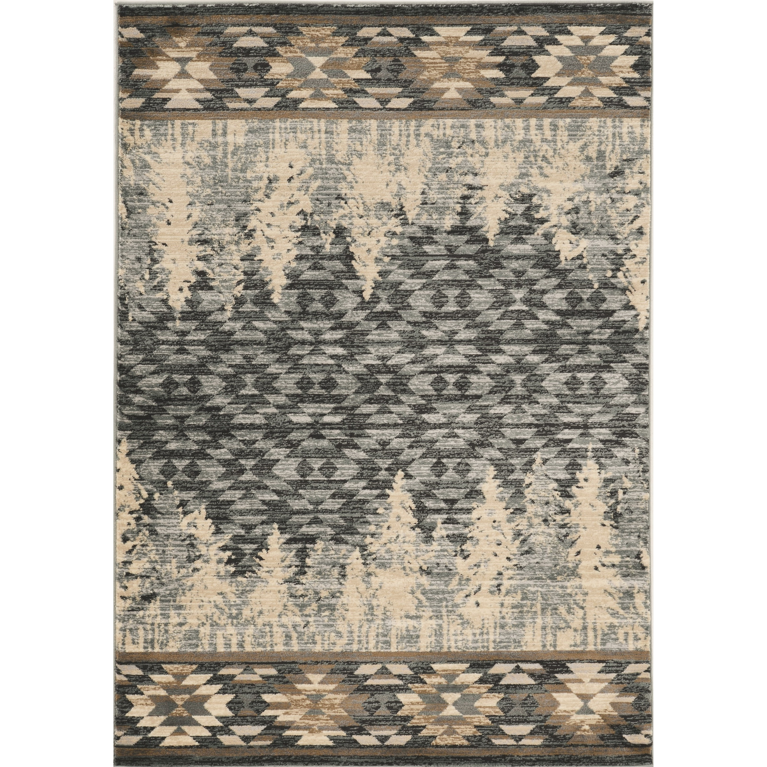 "7'10"" Round Slate Blue Pines Rug"