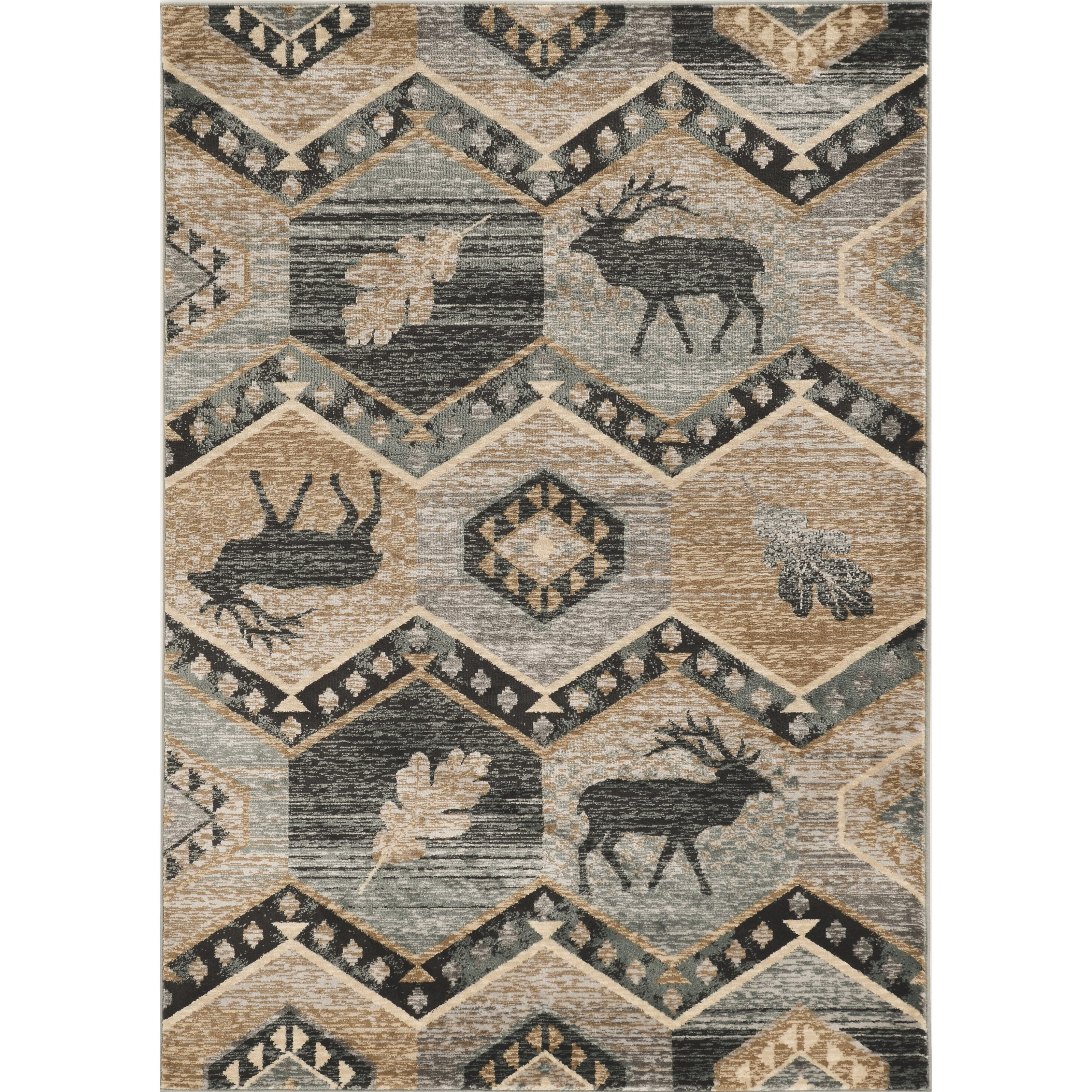 "Chester 5'3"" x 7'7"" Seafoam Woodlands Rug by Kas at Walker's Furniture"