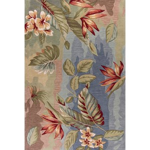 "Kas Coral 5' X 7'6"" Blue/Sage Breeze Area Rug"