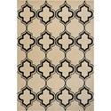 "Kas Corinthian 2'2"" X 7'11"" Ivory/Black Arabesque Area Rug - Item Number: COR537022X711RU"