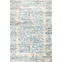 "Kas Crete 5'3"" X 7'7"" Ivory/Blue Courtyard Area Rug - Item Number: CRE650353X77"
