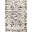 """Kas Crete 5'3"""" X 7'7"""" Ivory/Grey Courtyard Area Rug - Item Number: CRE651153X77"""