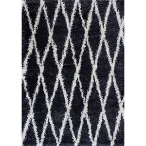 """Kas Delano 3'3"""" X 5' Charcoal Visions Area Rug"""
