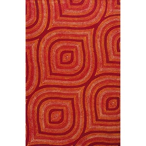 Kas Donny Osmond Home Escape 5' X 7' Red Raindrops Area Rug