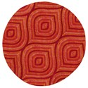 "Kas Donny Osmond Home Escape 7'6"" X 7'6"" Red Raindrops Area Rug - Item Number: DOE790676X76RO"