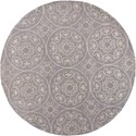 Kas Donny Osmond Home Harmony 5'6' X 5'6' Lilac Heritage Area Rug - Item Number: DOH810456X56RO
