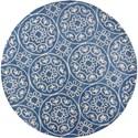 Kas Donny Osmond Home Harmony 5'6' X 5'6' Azure Blue Heritage Area Rug - Item Number: DOH810556X56RO