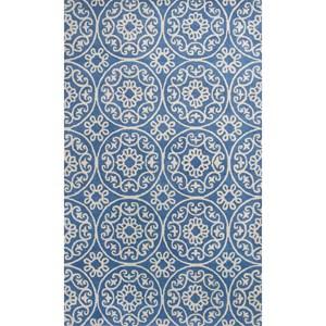 Kas Donny Osmond Home Harmony 5' X 8' Azure Blue Heritage Area Rug