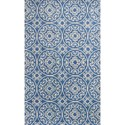 "Kas Donny Osmond Home Harmony 8' X 10'6"" Azure Blue Heritage Area Rug - Item Number: DOH81058X106"