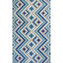 """Kas Donny Osmond Home Harmony 2'3"""" X 7'6"""" Ivory/Blue Accents Area Rug - Item Number: DOH810623X76RU"""