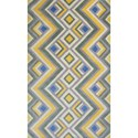 "Kas Donny Osmond Home Harmony 2'3"" X 7'6"" Gold/Lilac Accents Area Rug - Item Number: DOH810723X76RU"