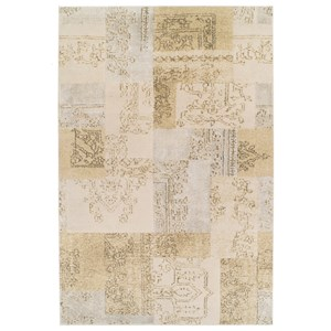 "Kas Donny Osmond Home Timeless 2'2"" X 3'3"" Champagne Tapestry Area Rug"