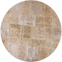 """Kas Donny Osmond Home Timeless 7'7"""" X 7'7"""" Champagne Tapestry Area Rug - Item Number: DOT800477X77RO"""