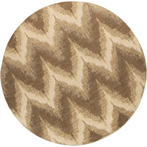 "Kas Donny Osmond Home Timeless 7'7"" X 7'7"" Champagne Chevron Area Rug"