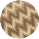 """Kas Donny Osmond Home Timeless 7'7"""" X 7'7"""" Champagne Chevron Area Rug - Item Number: DOT800677X77RO"""