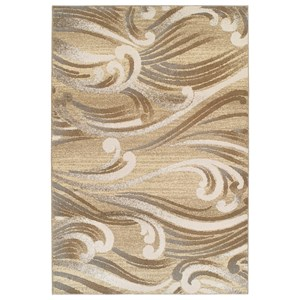 9' X 13' Natural Scrolls Area Rug
