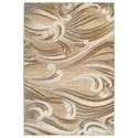 Kas Donny Osmond Home Timeless 9' X 13' Natural Scrolls Area Rug - Item Number: DOT80079X13