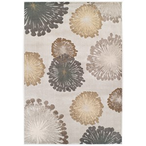 "Kas Donny Osmond Home Timeless 2'2"" X 7'11"" Silver Starburst Area Rug"