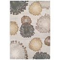 "Kas Donny Osmond Home Timeless 3'3"" X 4'11"" Silver Starburst Area Rug - Item Number: DOT800933X411"