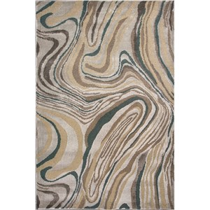 "Kas Donny Osmond Home Timeless 5'3"" X 7'8"" Silver Wood Grains Area Rug"