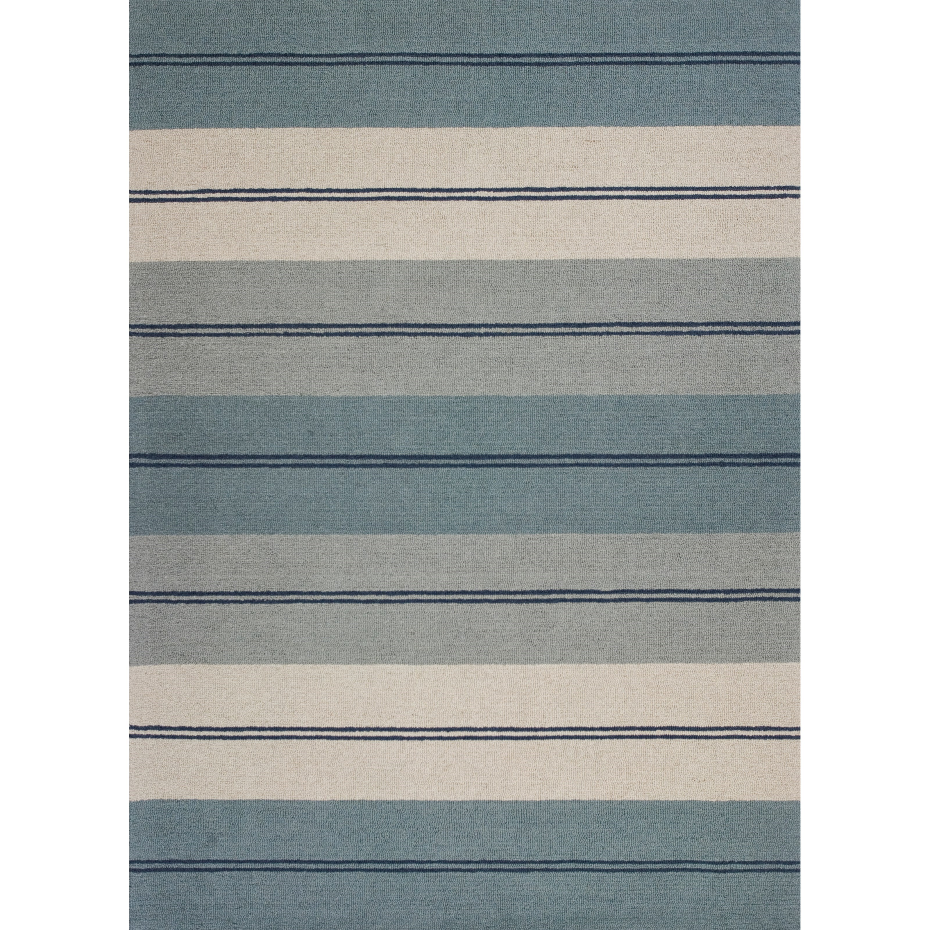 """2'3"""" X 3'9"""" Ivory/Blue Visions Area Rug"""
