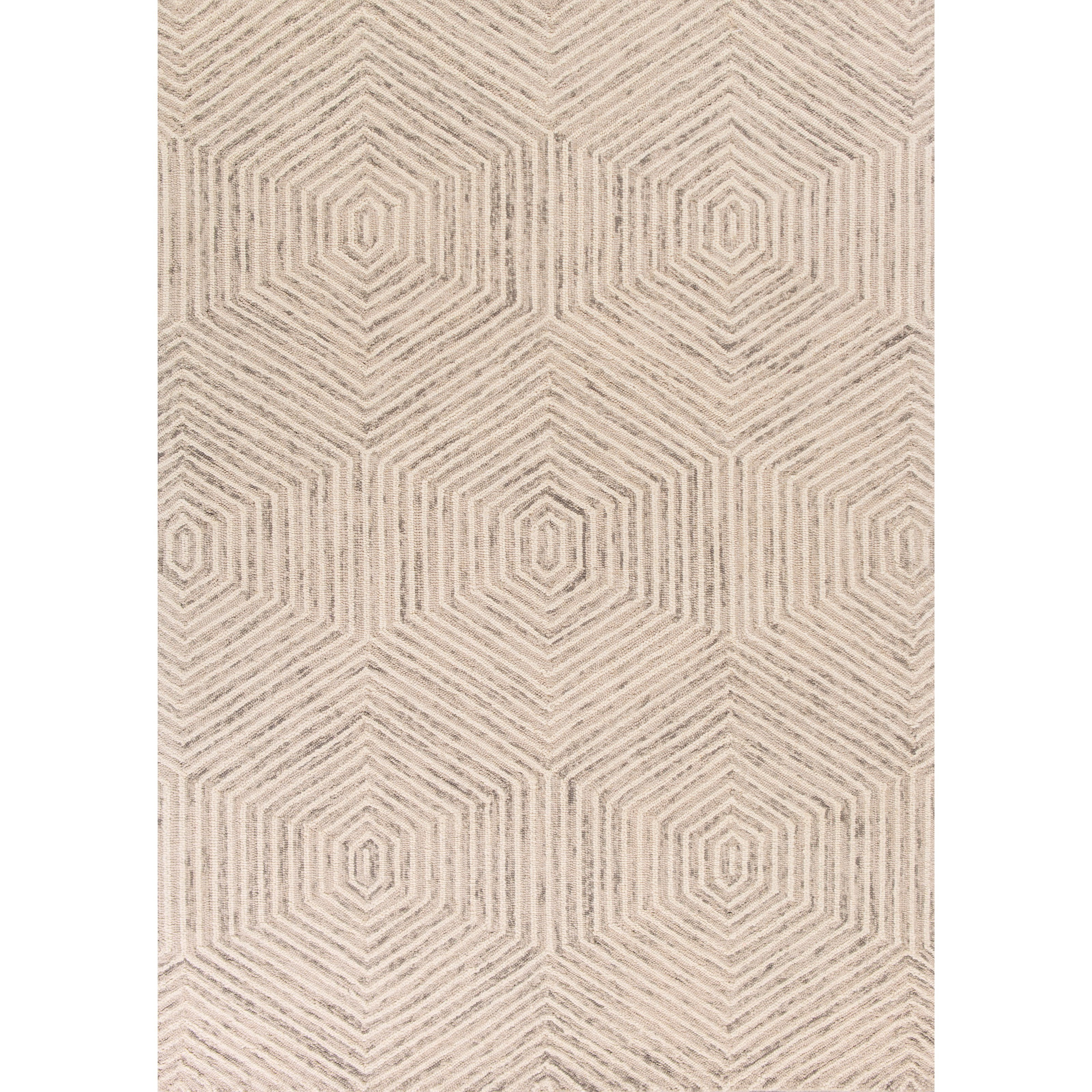 9' x 12' Ivory Honeycomb Rug