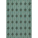 "Kas Harbor 5' X 7'6"" Teal Scrollwork Area Rug - Item Number: HAR42025X76"