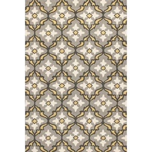 "Kas Harbor 3'3"" X 5'3"" Grey/Gold Mosaic Area Rug"