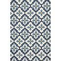 Kas Harbor 2' X 3' Ivory/Blue Mosaic Area Rug - Item Number: HAR42102X3