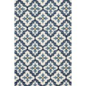 "Kas Harbor 5' X 7'6"" Ivory/Blue Mosaic Area Rug - Item Number: HAR42105X76"