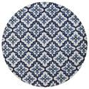 "Kas Harbor 7'6"" X 7'6"" Ivory/Blue Mosaic Area Rug - Item Number: HAR421076X76RO"