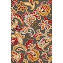"Kas Harbor 3'3"" X 5'3"" Taupe Flora Area Rug - Item Number: HAR421333X53"