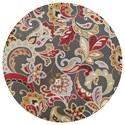 "Kas Harbor 7'6"" X 7'6"" Taupe Flora Area Rug - Item Number: HAR421376X76RO"