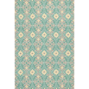 "Kas Harbor 3'3"" X 5'3"" Aqua Empire Area Rug"