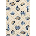 Kas Harbor 2' X 3' Sand Seaside Area Rug - Item Number: HAR42172X3